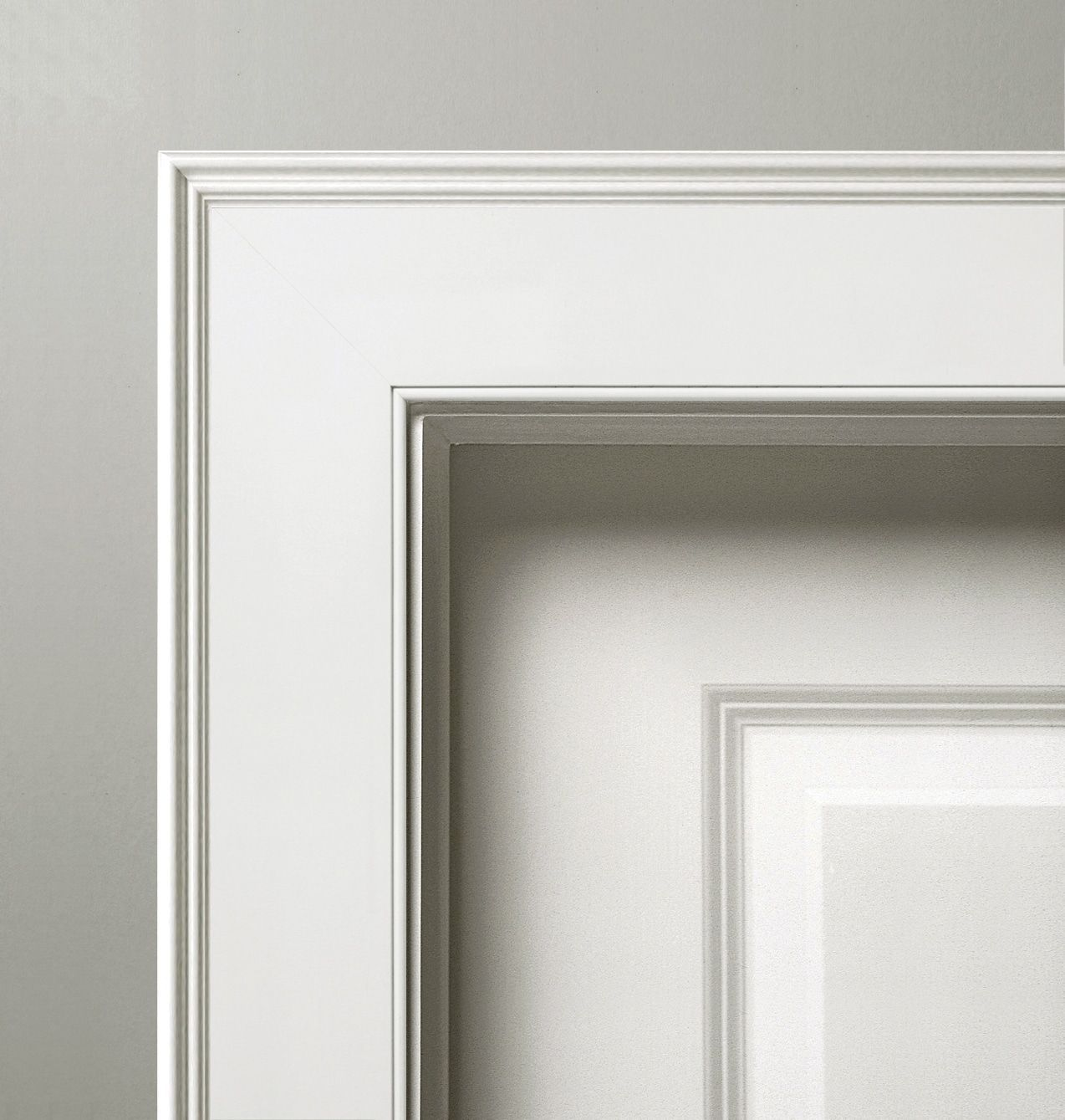 2 piece door frame Federal Panel Molding with Beaded Casing ...