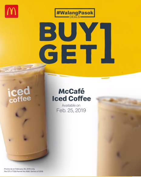 Mcdonalds Walang Pasok Deal Buy 1 Take 1 Iced Coffee Feb 25 Only Proud Kuripot Kick Your Caffeine Cravings Food Poster Design Beverage Poster Food Poster