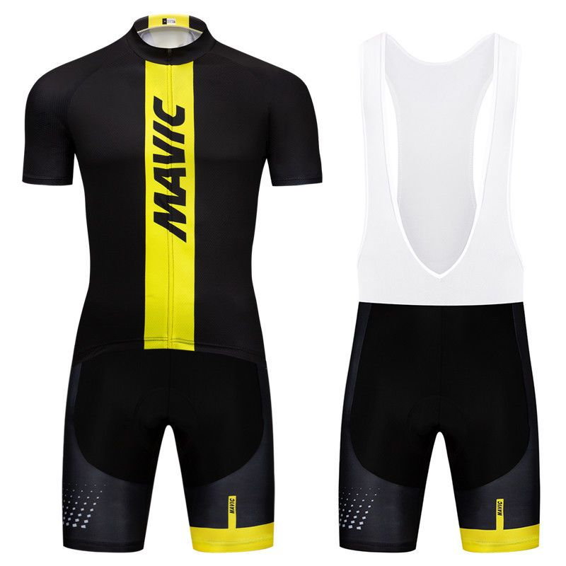 Black Men Bike Team Cycling Jerseys Short Sleeve Bib Shorts Kits Racing  Uniforms  DKGEMN bd3edb167