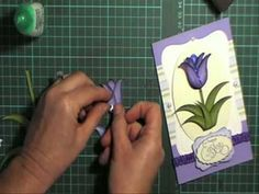 2 step owl punch video for making tulips for your card front