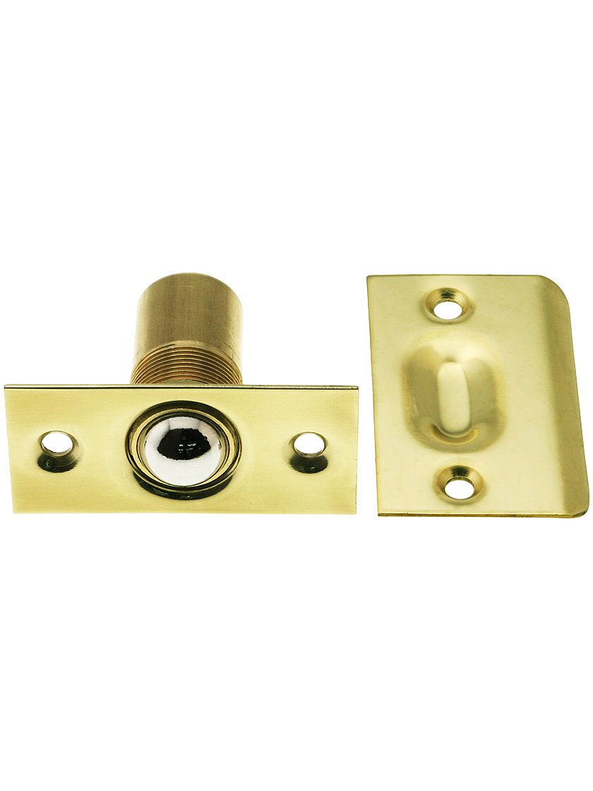 Solid Brass Square Corner Ball Catch With Wide Strike House Of Antique Hardware Antique Hardware Antique Door Hardware