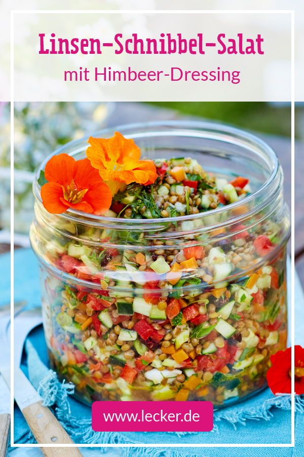 Linsen-Schnibbel-Salat Rezept | LECKER