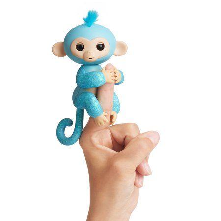 Fingerlings Glitter Monkey Amelia Turquoise Blue Glitter
