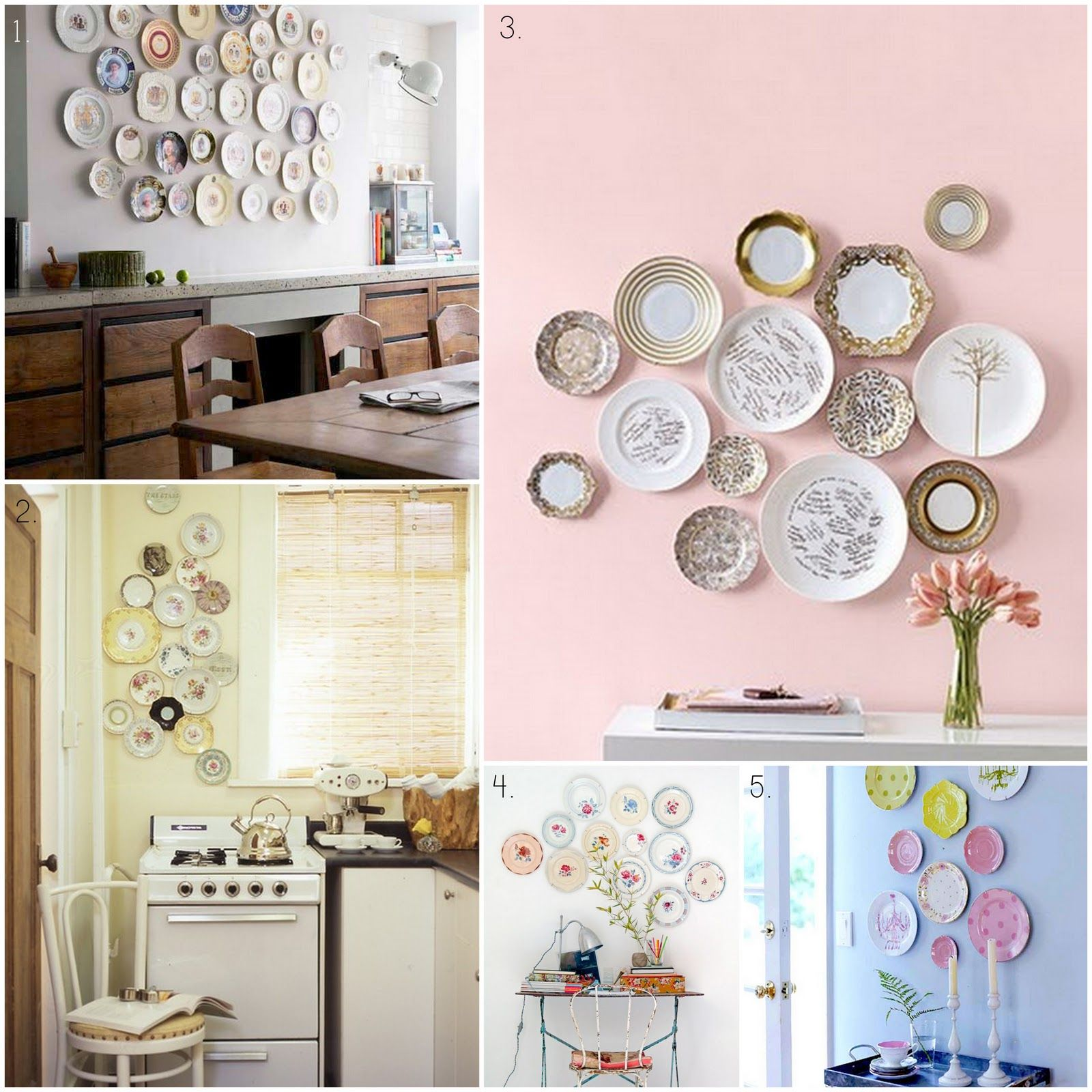 Vintage plate wall art love plates on the wall ideas pinterest