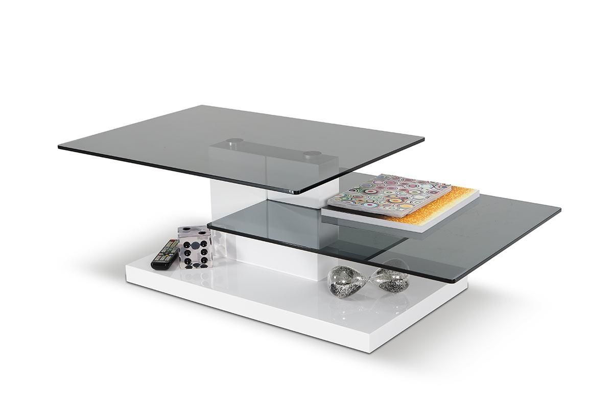 White High Gloss Coffee Table Vig Modrest Dove Contemporary Modern Vghb153a Coffee Table White Coffee Table Modern Glass Top Coffee Table [ 813 x 1200 Pixel ]