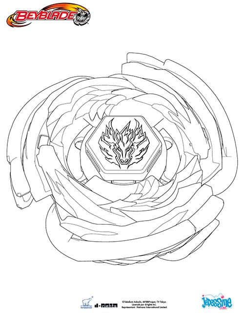 Beyblade Coloriage Cosmic Pegasus Coloring Pages Cartoon