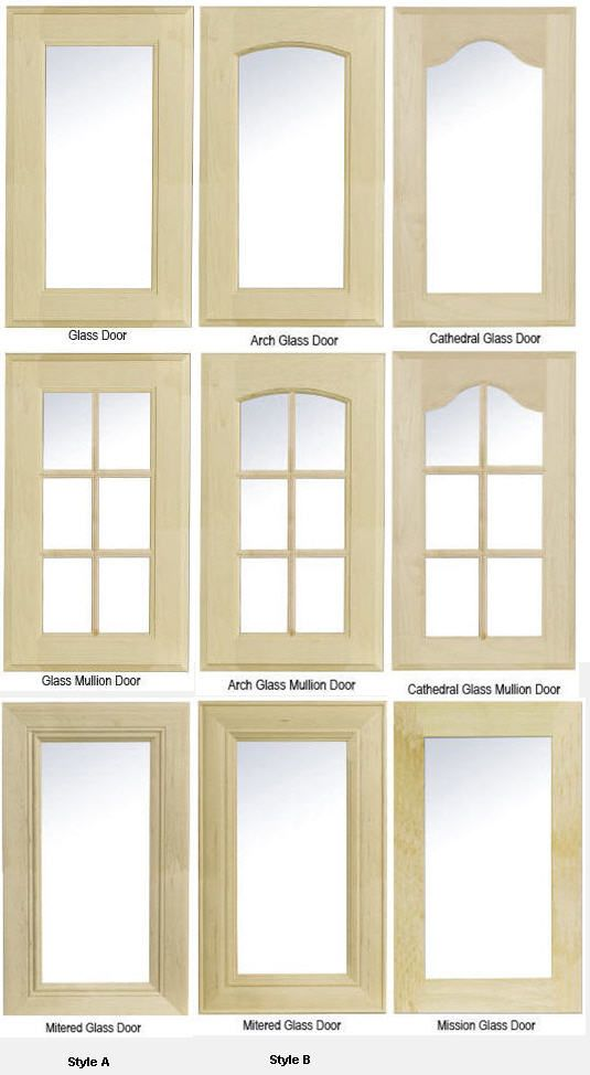 kitchen cabinets with glass inserts | Kitchen Cabinet Glass ...