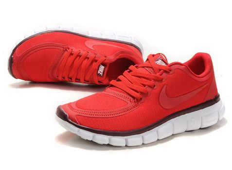 online store f5d83 9ac45 2012 Womens Nike Free 5.0 V4 Red Black  Red  Womens  Sneakers