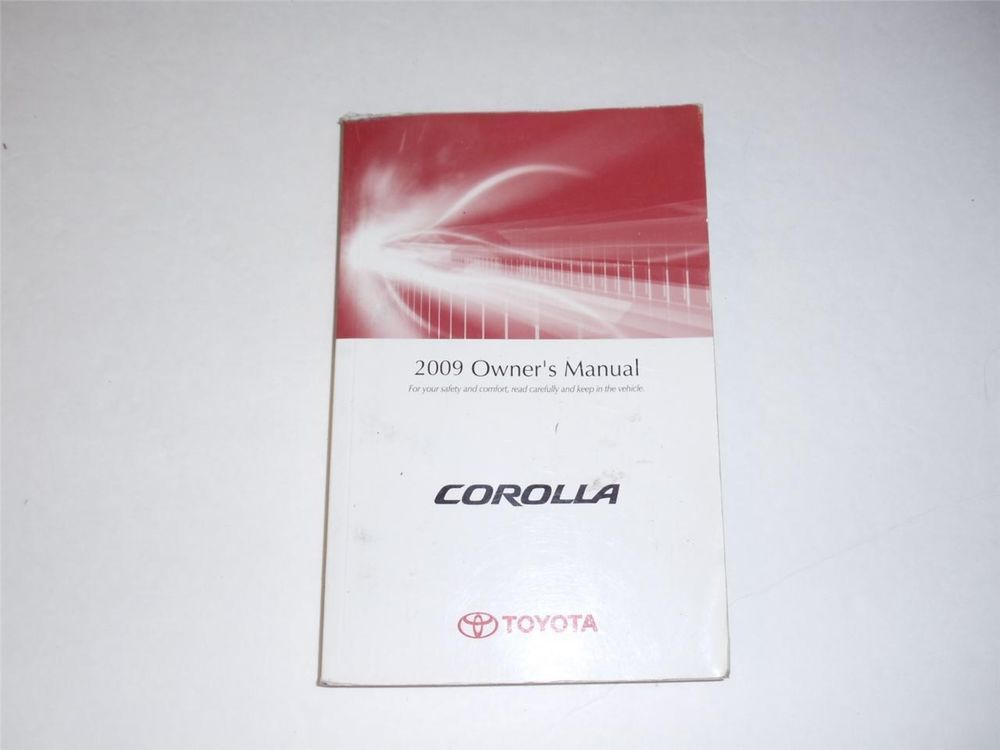 2009 toyota corolla owners manual book owners manuals pinterest rh pinterest com 2009 toyota corolla repair manual 2008 toyota corolla owners manual pdf free