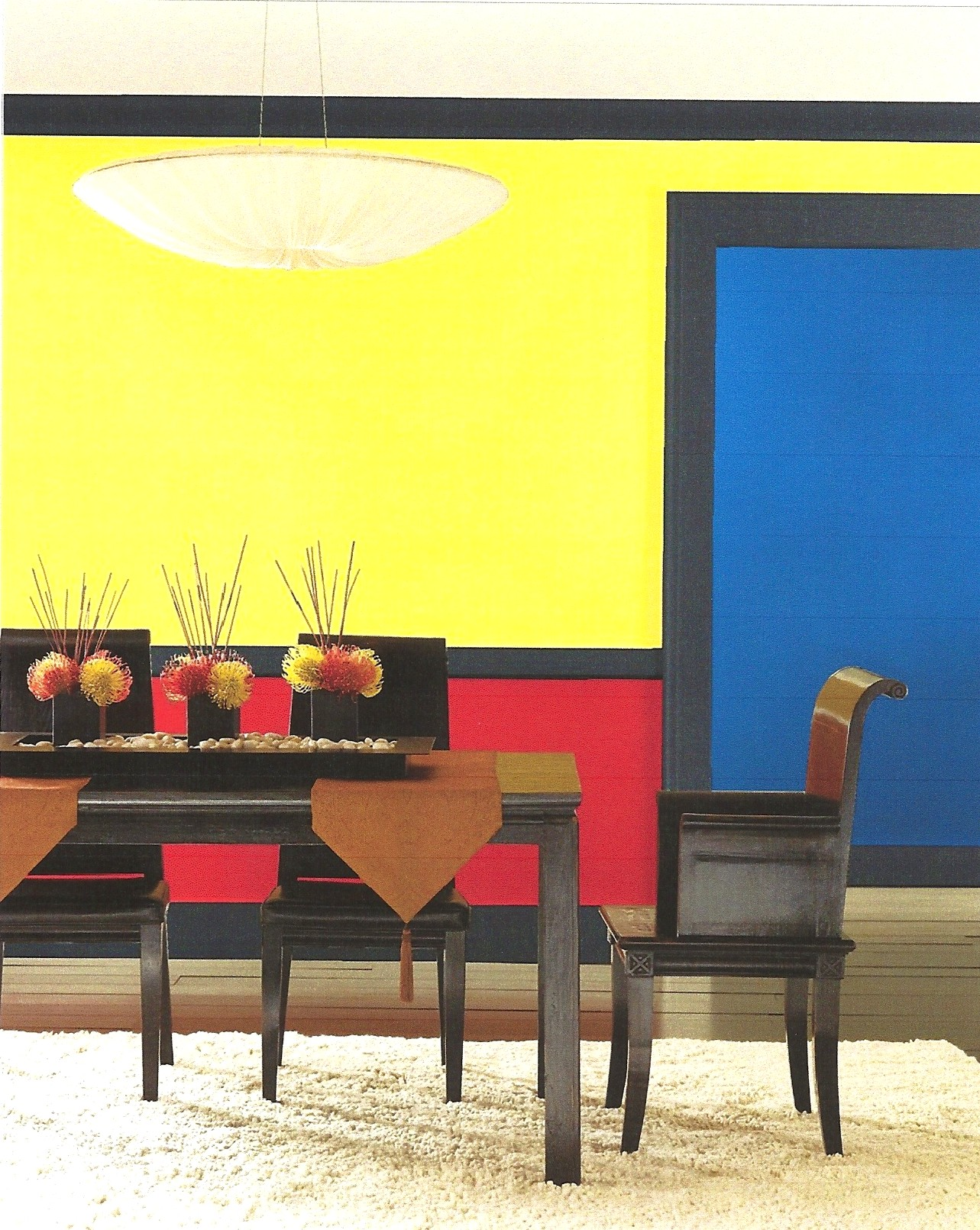Apr Dining Room Idea Colour Blocked Dining Room Idea Dining Room Colors Bright Dining Rooms Room Colors