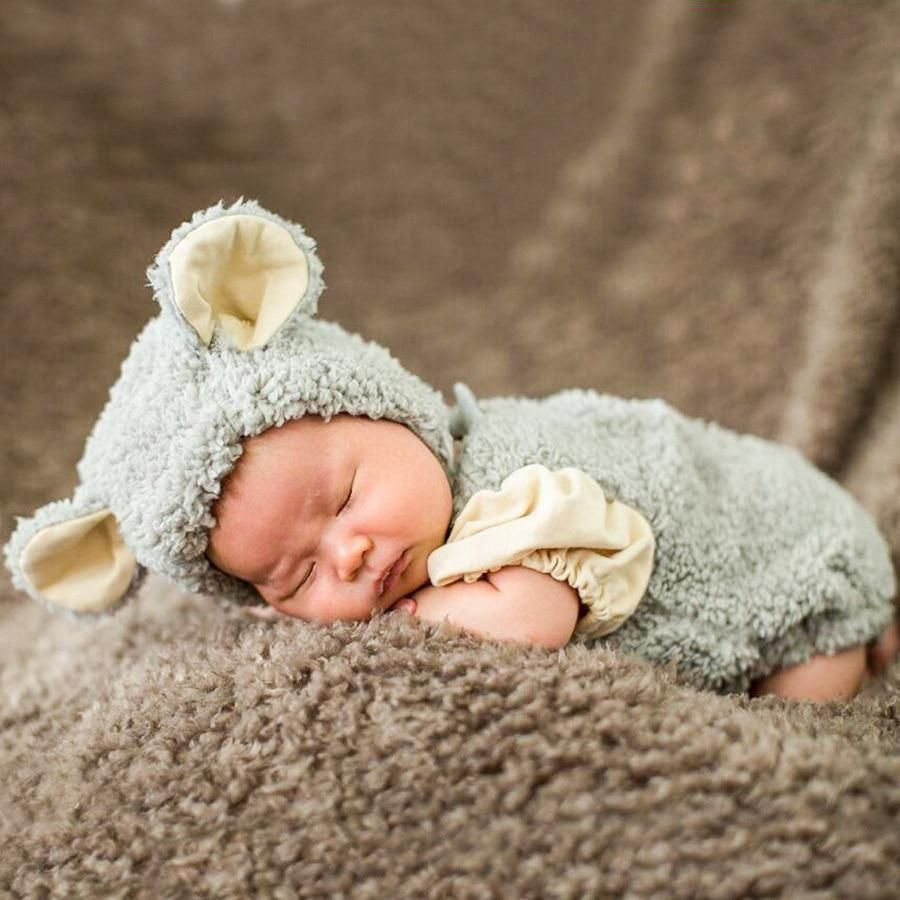 Mandalaa Autumn Winter Toddler Infant Knitted Baby Hat Adorable Soft Rabbit Long Ear Rabbit Hat Baby Bunny Beanie Cap Photo Props Accessories