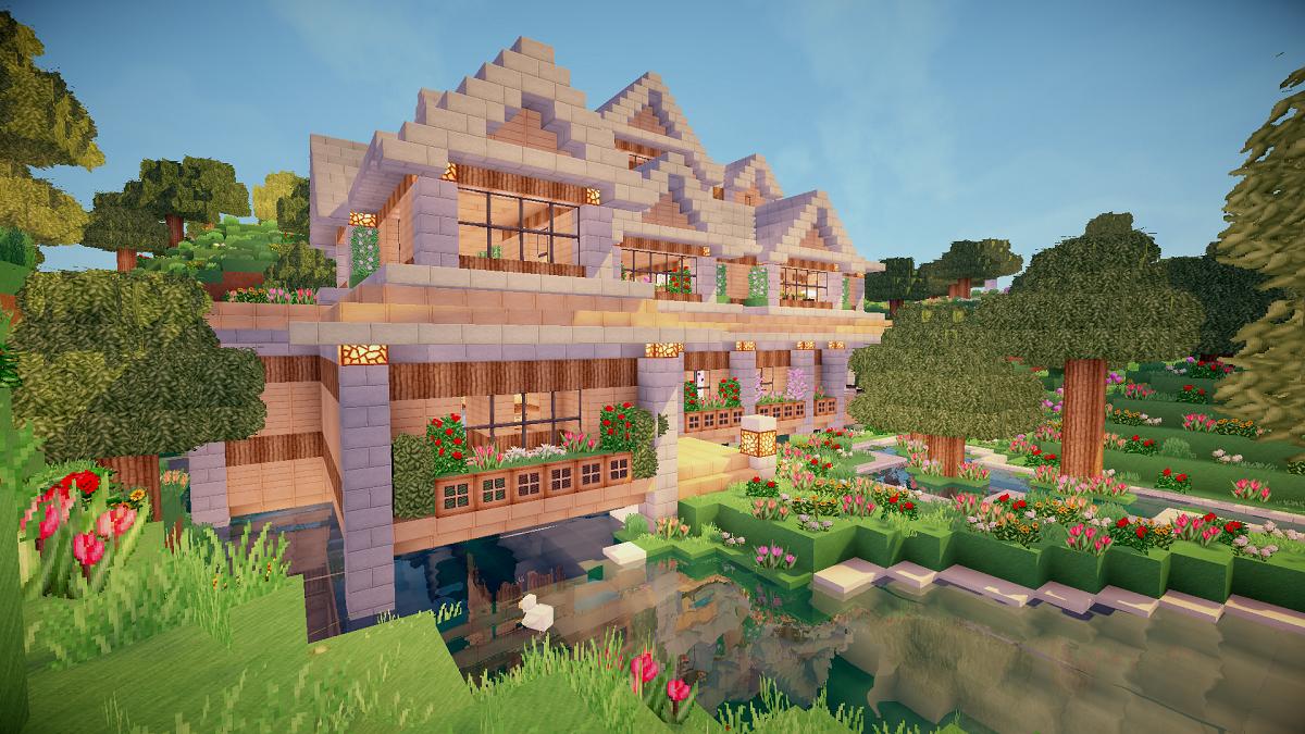 Image result for flower house minecraft