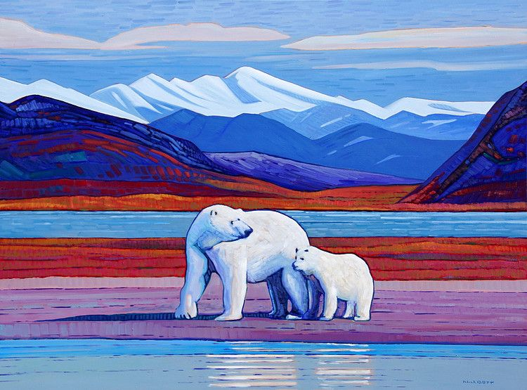 A collection of paintings by canadian painter nicholas