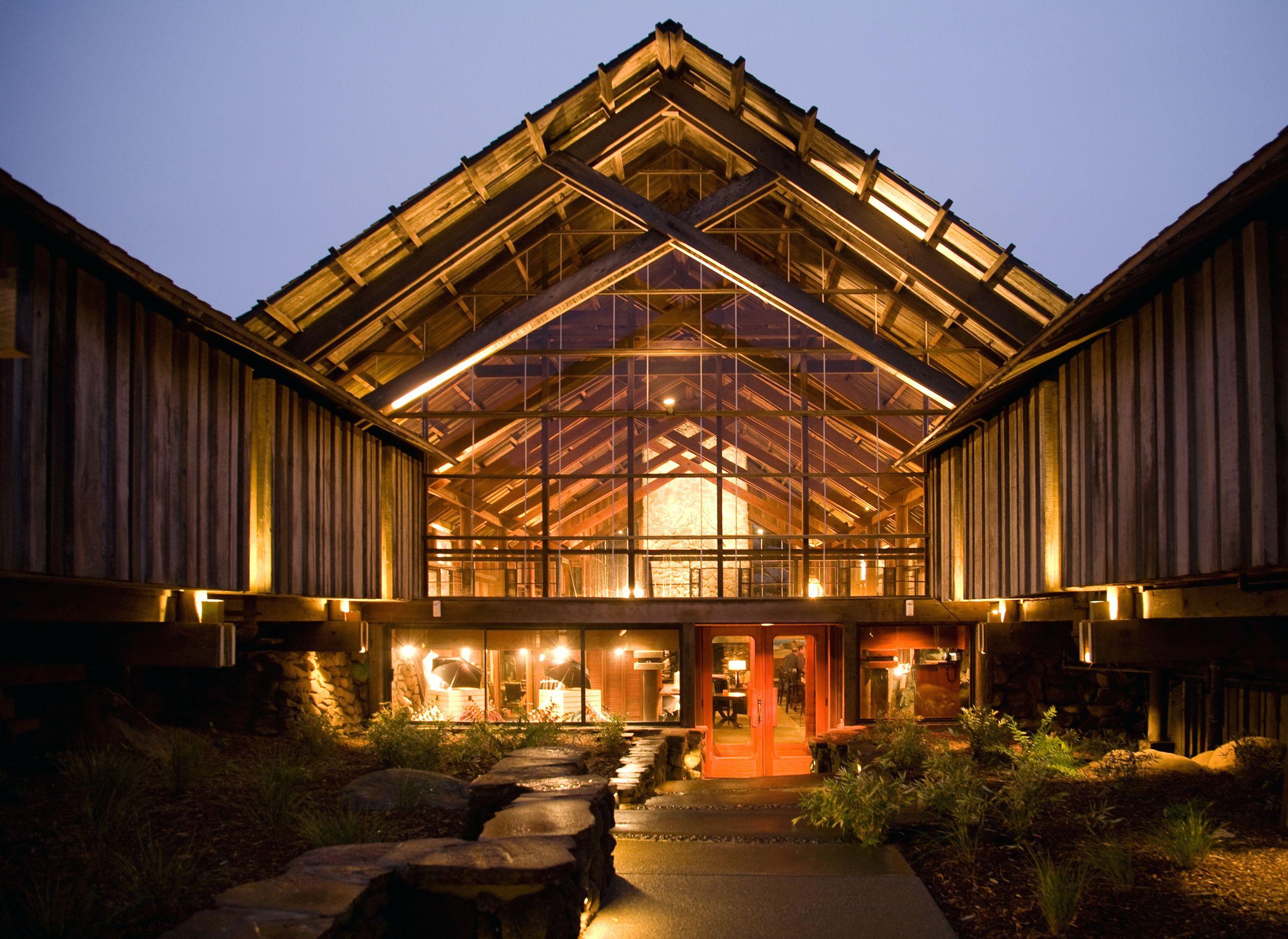Dusk at Timber Cove Inn Sonoma coast, California hotel