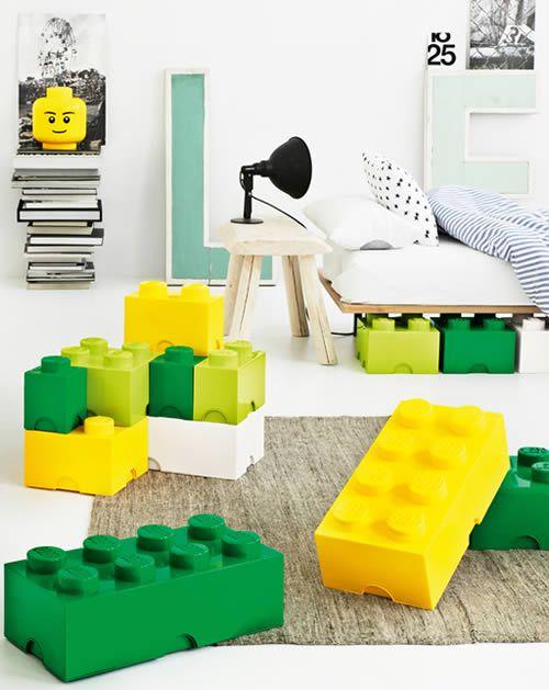 Giant Lego Brick Storage Bo Full Colour Range Exclusvie To