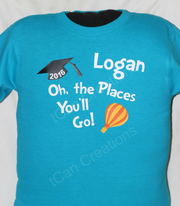 kindergarten girl side Kindergarten Graduation Shirt - First Grader I Am (on reverse side) - Boy  shirt - Girl shirt - Oh, The Places You'll Go - Dr Seuss inspired