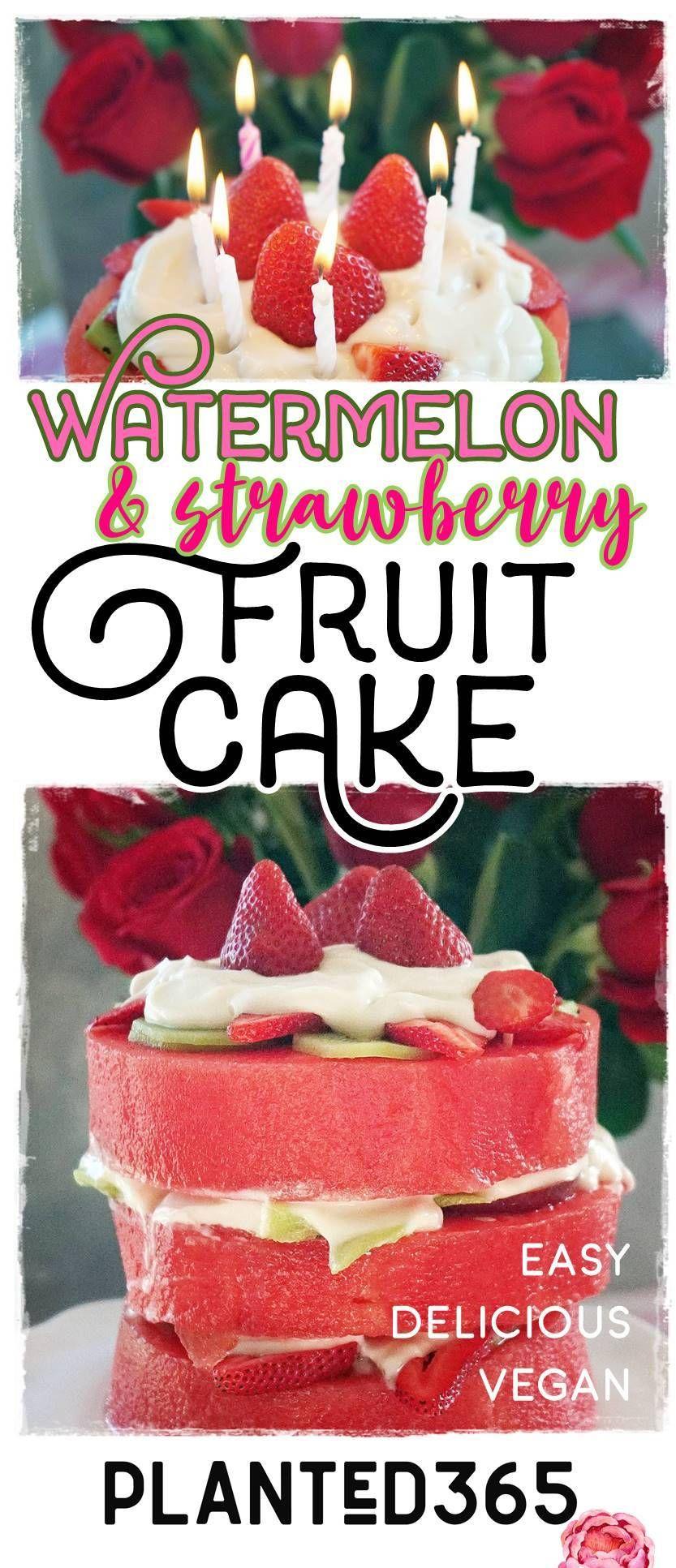 Watermelon Fruit Cake Vegan Gluten Free Planted365 Recipe In 2020 Fruit Cake Watermelon Dessert Recipes Fruit Recipes