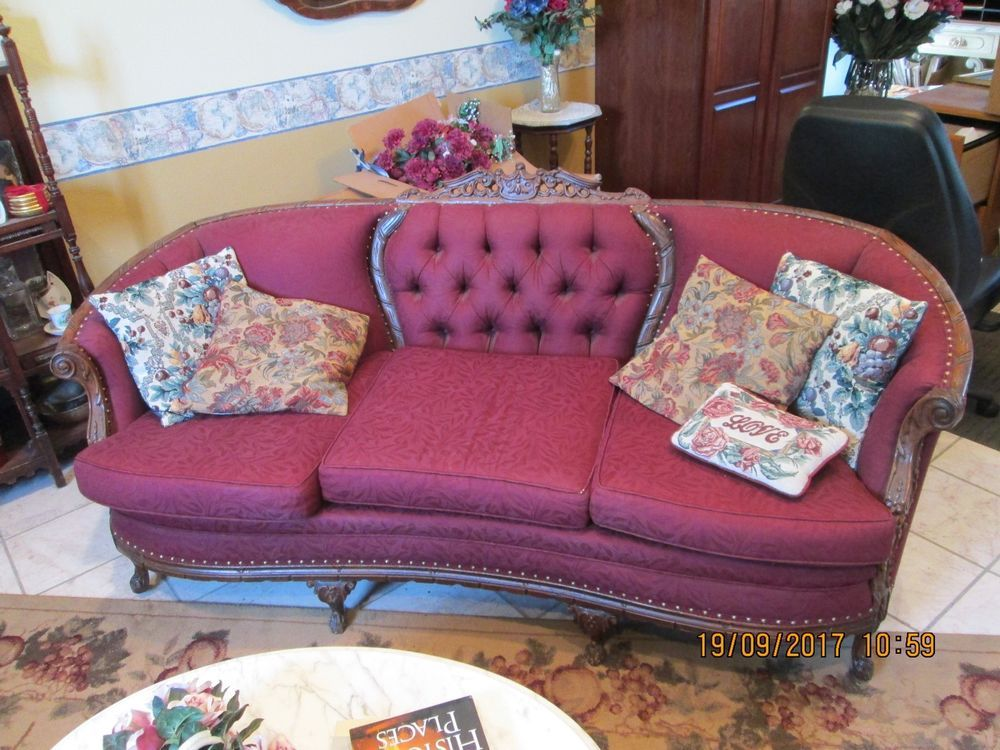Antique Victorian Furniture set, Sofa and Wing Chairs | Victorian ...