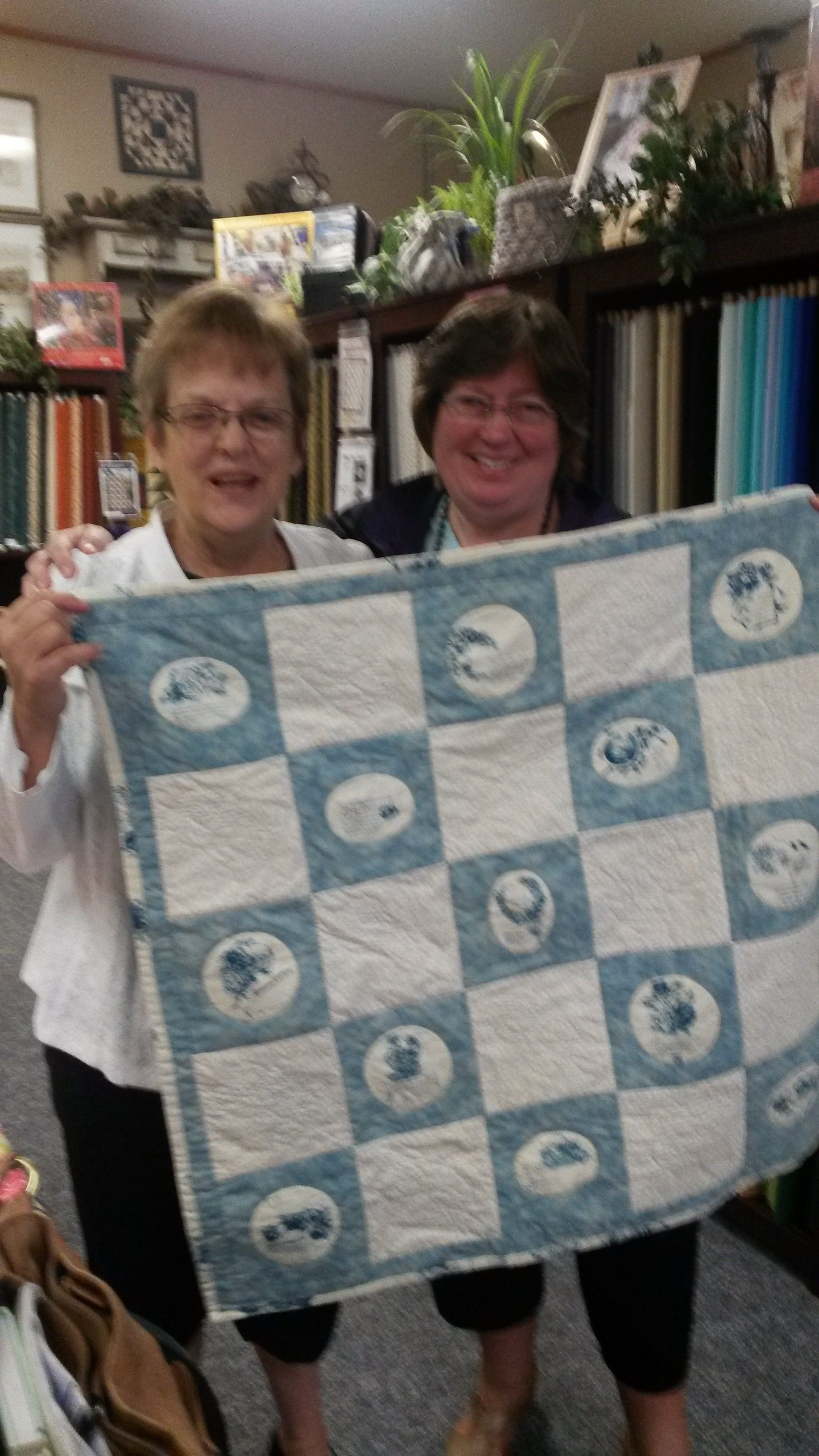 """Marlys and Me - presenting her """"You are my Friend"""" quilt  10-2014"""