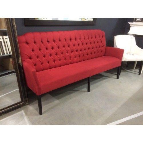 gepolsterter bank rot sitzbank im landhausstil breite. Black Bedroom Furniture Sets. Home Design Ideas