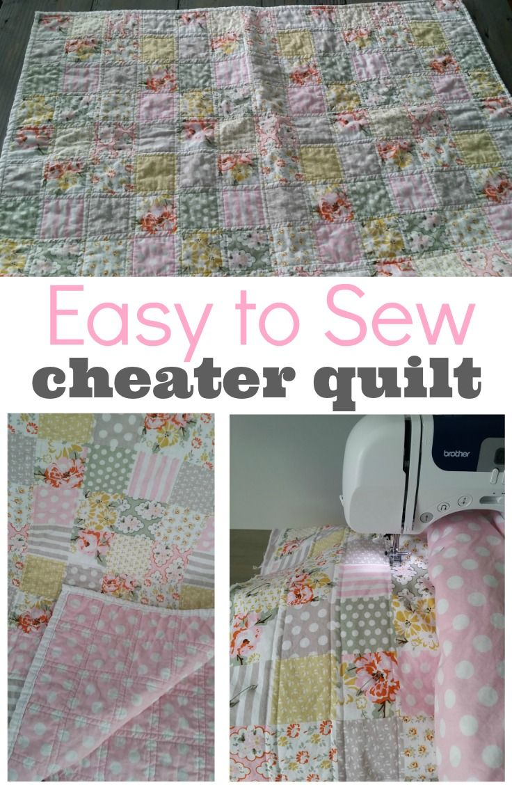 Cheater Baby Quilt Tutorial Beginning Quilter Pinterest Baby