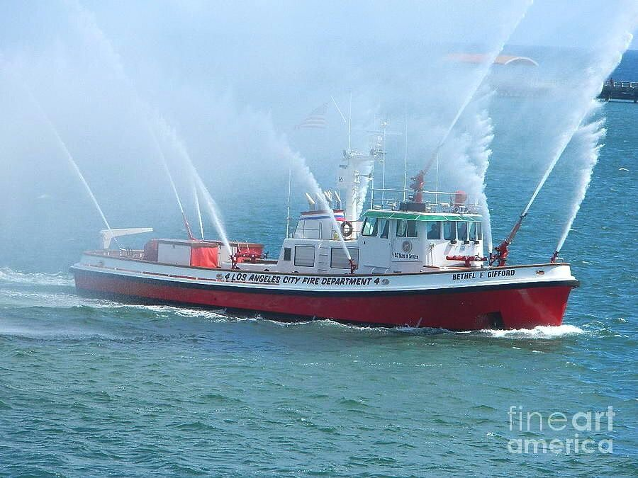 Fireboat Bethel F Gifford Los Angeles Fire Department 4 Photo