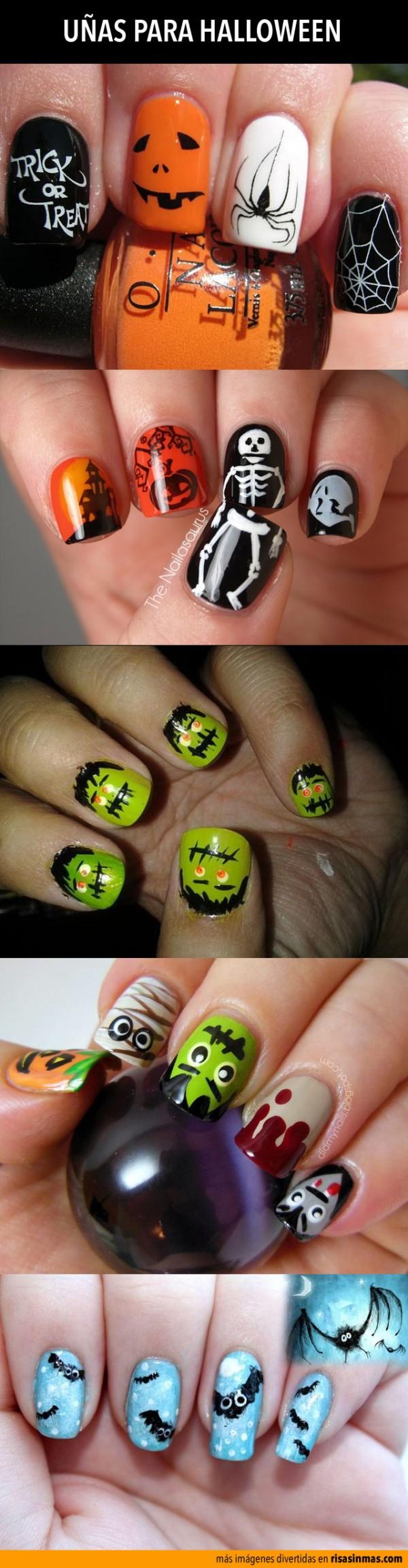 Uñas para Halloween   Diseño de uñas   Pinterest   Nageldesign