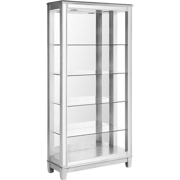 Pier 1 Imports Hayworth Mirrored Tall Bookshelf 650 Liked On Polyvore Featuring Home Furniture Storage Shelves Bookcases Silver