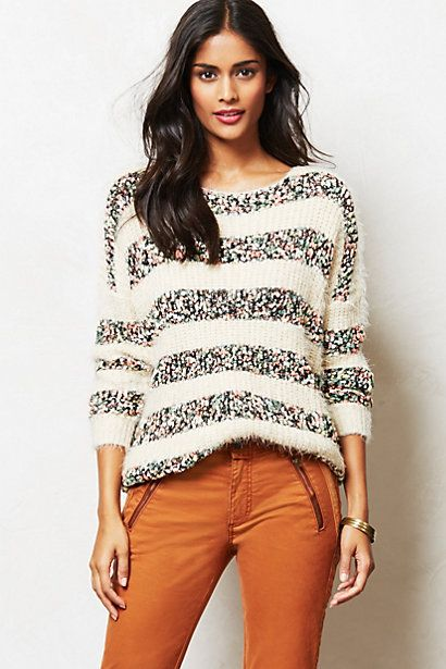 Confetti Striped Pullover #anthropologie