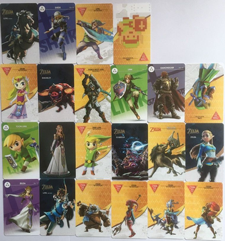 22 Full Set Nfc Pvc Tag Card Zelda Breath Of The Wild Wolf Link