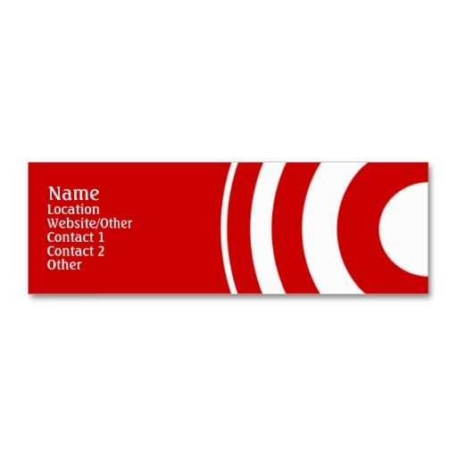 Target mini business card white and red business cards pinterest target business card template colourmoves