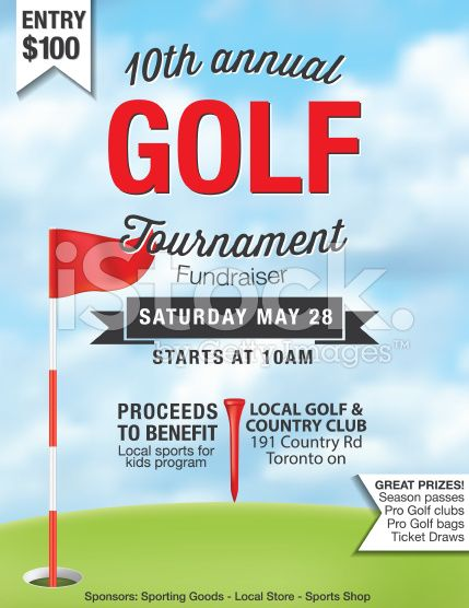 Golf Fundraiser Tournament Template There is grass at the bottom - benefit flyer template