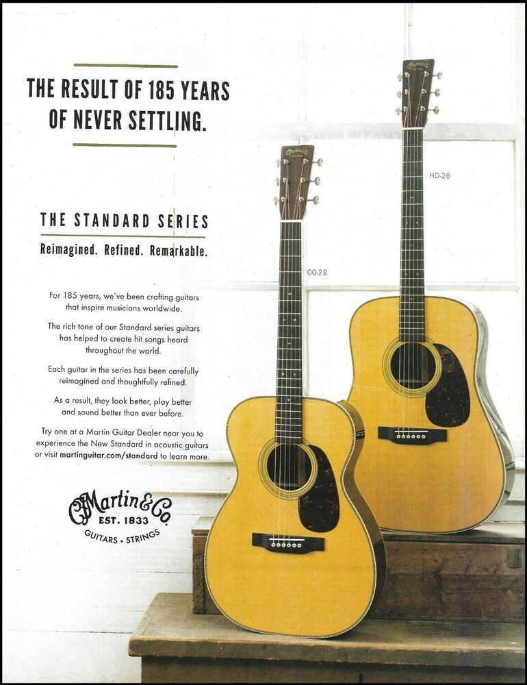 Martin Standard 00 28 Hd 28 Acoustic Guitar Ad 185th Anniversary Advertisement Martin In 2021 Acoustic Guitar Martin Guitar Guitar