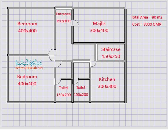 خارطة بيت دور ارضي مساحته 100 متر مربع How To Plan Staircase