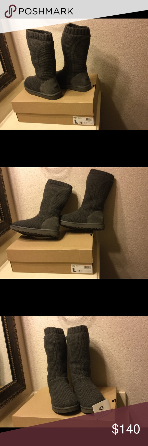 e88a4ec2155 Authentic UGG W CAPRA Women Boots  UGG Capra Classic Tall Boot Grey. This  style
