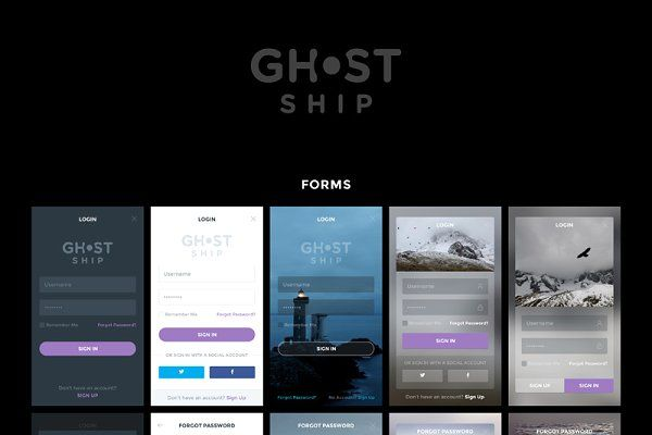 Ghost Ship Mobile UI Kit - Web Elements