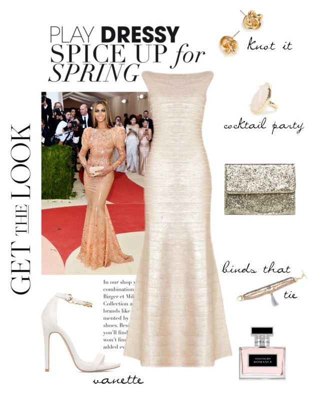 """Get the Look: Met Gala 2016 (with @shoedazzle)"" by inglewooddiva on Polyvore featuring Hervé Léger, ShoeDazzle, Ralph Lauren, GetTheLook and MetGala"
