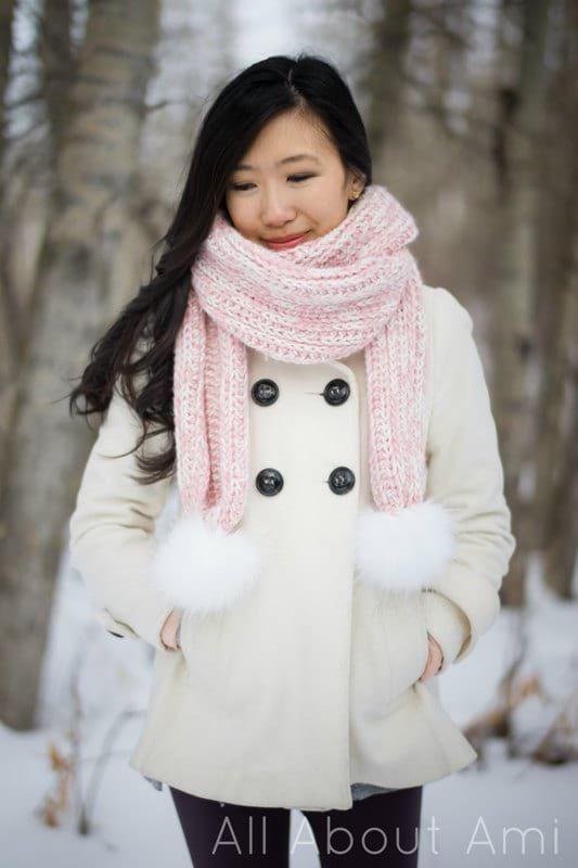 Snow Puff Ribbed Scarf   Crochet   Pinterest