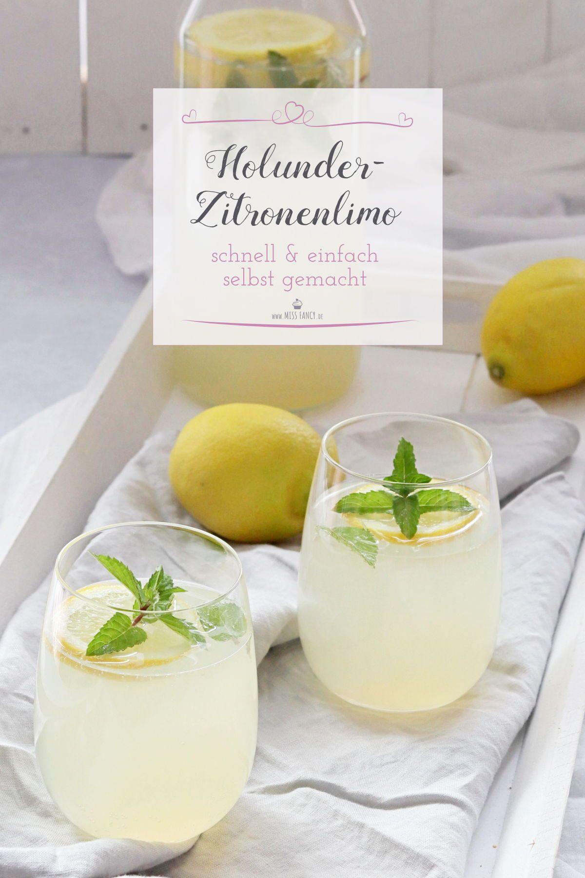 Perfekte Holunder-Zitronenlimonade   Miss Fancy - Rezepte für jeden Tag