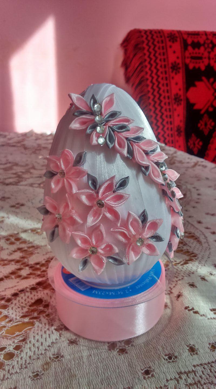 Jajko wielkanocne | Wielkanoc | Pinterest | Easter, Silk ribbon and ...