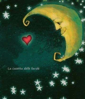 Moon luna stelle stars canvass quadro