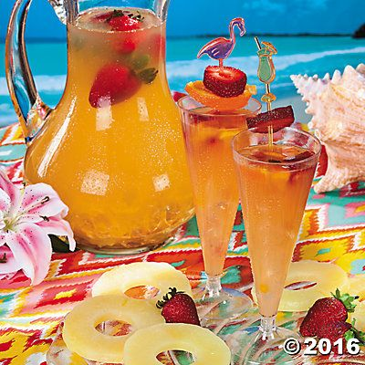 Summer Pineapple Strawberry Cooler Recipe