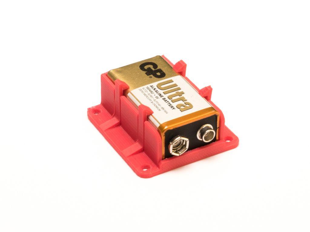 9v Battery Holder By Circuito 3d Printing Diy 3d Printer Designs 3d Printer