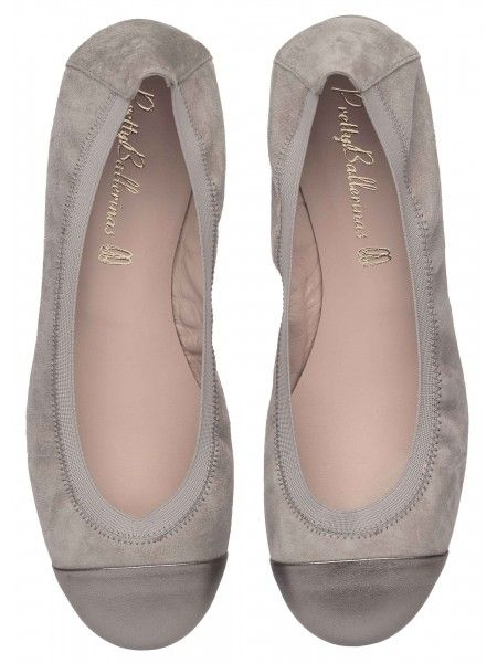 80b0c66980dd PrettyBallerinas Their Shirley ballet flat in soft grey suede with dark  grey leather toe.  199 worth of heaven on Earth.  3