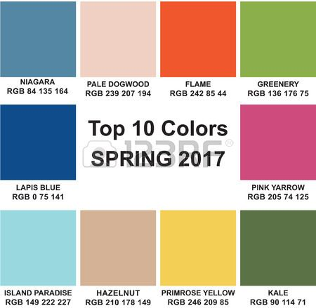 Trendy Colors Of A Season Spring 2017 To Rgb Color E