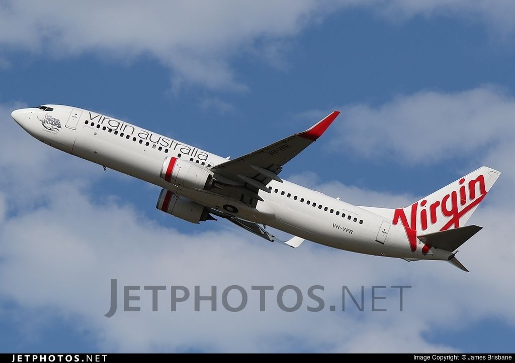 Photo of VH-YFR Boeing 737-8FE by James Brisbane