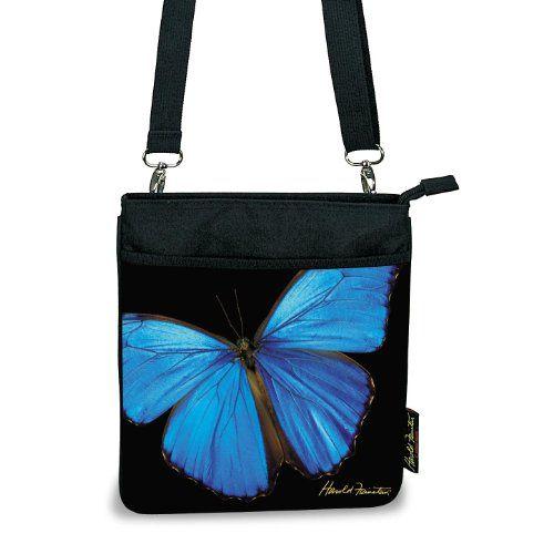 Harold Feinstein Blue Erfly Cross Body Bag