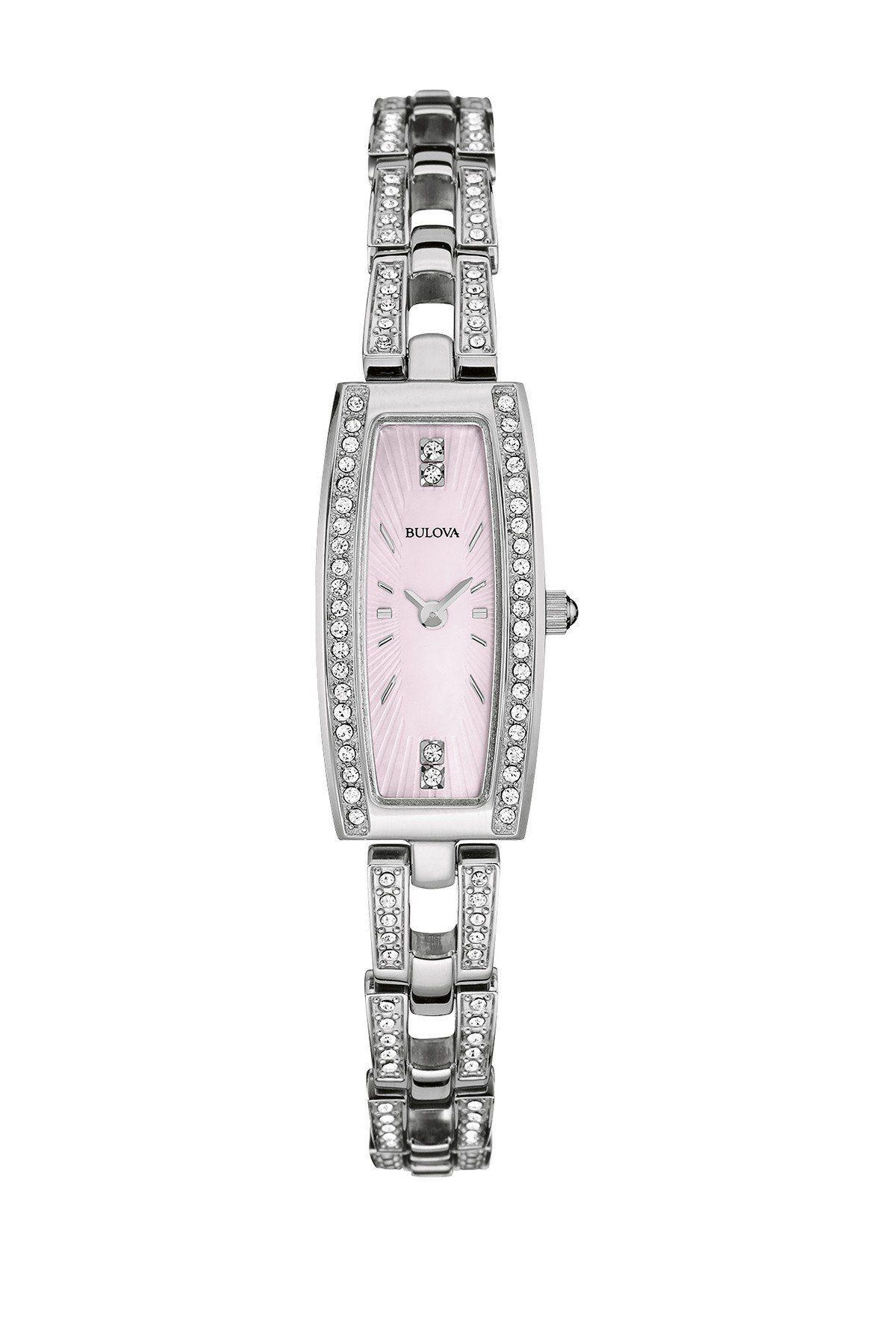 tone accessories be inspired crystal bracelet watches gold glitz product lyst watch pink in rose dkny metallic