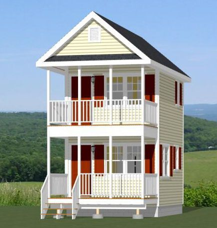 12x16 Tiny House Pdf Floor Plan 364 Sq Ft Savannah Georgia General