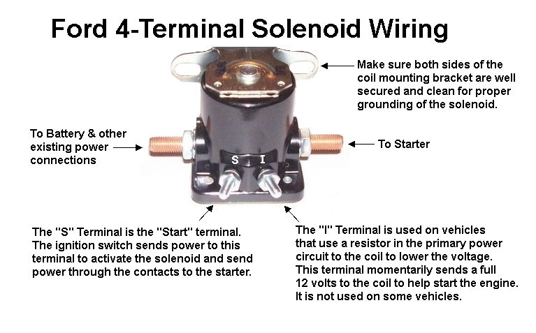 starter solenoid wiring - 4 terminal | tractors, automotive technician, car  mechanic  pinterest